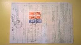 1983 BOLLETTINO PACCHI POSTALI DA ESTERO IRAN AEREO FREIGN PARCEL POST OFF TIMBRO QUADRATO BLU 800,1000, LIRE CAVALLINO - Postal Parcels