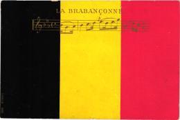 """BELGIQUE """"LA BRABANCONNE"""" SUR FOND DE DRAPEAU BELGE    REF 57443 - Belgique"""