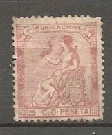 1873 - Yv. N° 131   (o)   5c  Rose  République   Cote  7,5 Euro  BE  R  2 Scans - 1873 1st Republic
