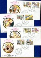 VATICANO - FDC  1986 - FDC FILAGRANO  - VIAGGI DEL PAPA    CANADA SPAGNA DOMINICANA PORTORICO - FDC