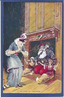 CPA ALSACE Femme Dans La Guerre WWI écrite Père Noël Marianne - Patriottiche