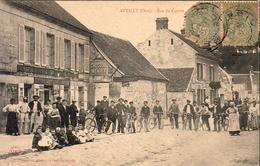 D60  ANTILLY Rue Du Centre  Belle Animation Nombreux Cyclistes - Nanteuil-le-Haudouin