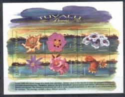 Tuvalu 1999 Flowers Sheetlet MUH - Tuvalu