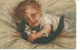 """Kind Mit Kätzchen """"Gespielen"""" - Borrmeister, R."""