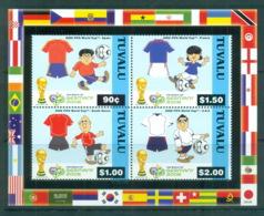 Tuvalu 2006 World Cup Soccer MS MUH Lot70888 - Tuvalu