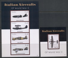 Tuvalu 2013 Italian Aircraft Of WWII 2xMS MUH - Tuvalu