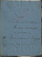 LAGNY SUR MARNE ACTE DE VENTE 1826 MARIÉ 8 PAGES : - Manuscrits