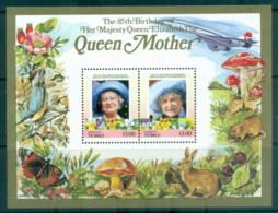 Tuvalu Funafuti 1986 Queen Mother 85th Birthday $3 MS MUH - Tuvalu