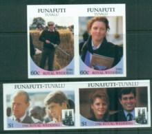 Tuvalu Funafuti 1986 Royal Wedding, Andrew & Sarah IMPERF MUH - Tuvalu