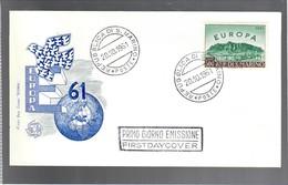 San Marino 1961 Busta Primo Giorno Europa Unita N°568 Cod.busta.230 - San Marino