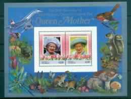 Tuvalu Nanumaga 1986 Queen Mother 85th Birthday $2.10 MS MUH - Tuvalu