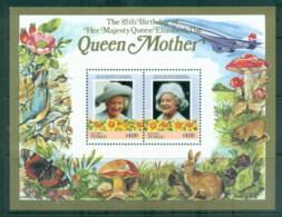 Tuvalu Nanumea 1986 Queen Mother 85th Birthday $4 MS MUH - Tuvalu