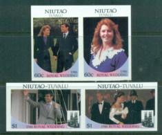 Tuvalu Niutao 1986 Royal Wedding, Andrew & Sarah IMPERF MUH - Tuvalu