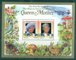 Tuvalu Nui 1986 Queen Mother 85th Birthday $3.50 MS MUH - Tuvalu