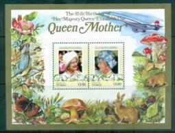 Tuvalu Nukefetau 1986 Queen Mother 85th Birthday $3 MS MUH - Tuvalu