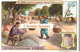 Série Complète, Lot De 6 Chromos LIEBIG - La Soie -  Scans Recto-verso - Liebig
