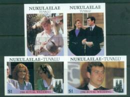 Tuvalu Nukuaelae 1986 Royal Wedding, Andrew & Sarah IMPERF MUH - Tuvalu