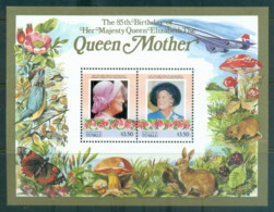 Tuvalu Nukulaelae 1986 Queen Mother 85th Birthday $3.50 MS MUH - Tuvalu