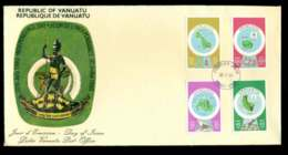 Vanuatu 1980 Independence Day(4v) FDC Lot51718 - Vanuatu (1980-...)