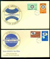 Vanuatu 1980 Rotary, Kiwani's 2x FDC Lot51719 - Vanuatu (1980-...)
