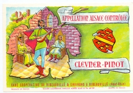 Etiket Etiquette - Vin - Wijn - Alsace - Clevner Pinot - Ribeauvillé - Etiquettes