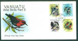 Vanuatu 1982 Wild Birds 15,20,25,45c Part III FDC Lot50386 - Vanuatu (1980-...)