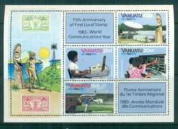 Vanuatu 1983 World Communications Year MS MUH Lot81372 - Vanuatu (1980-...)