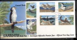 Vanuatu 1997 Coastal Birds PtI FDC - Vanuatu (1980-...)