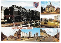 37 - SAINT PIERRE DES CORPS - Multivues Avec Blason - Locomotive à Vapeur Pacific 231E41 - Ed. Artaud Frères N° 103 - France