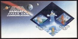 Vanuatu 2000 Space & Communications MS FDC - Vanuatu (1980-...)