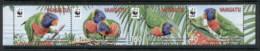 Vanuatu 2011 WWF Massena's Lorikeet, Bids Str4 MUH - Vanuatu (1980-...)