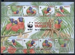 Vanuatu 2011 WWF Massena's Lorikeet, Birds Sheetlet MUH - Vanuatu (1980-...)