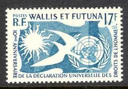 Wallis & Futuna 1958 Human Rights MLH Lot14387 - Wallis And Futuna