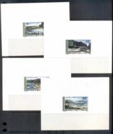 Wallis & Futuna 1975 Landscapes, Proof On Card 6x MUH - Wallis And Futuna