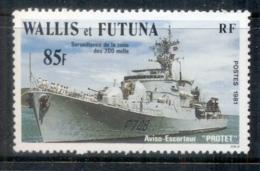 Wallis & Futuna 1981 200 Mile Zone Suirveliiance Ship, 85f Protet - Wallis And Futuna