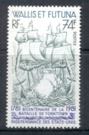 Wallis & Futuna 1981 Battle Of Yorktown, Ships 74f MUH - Wallis And Futuna