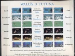 Wallis & Futuna 1981 Fish, Coral, Shell, Sheetlet IMPERF MUH - Wallis And Futuna
