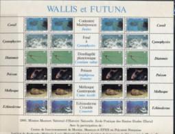 Wallis & Futuna 1981 Fish, Coral, Shell, Sheetlet MUH - Wallis And Futuna