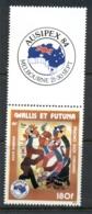 Wallis & Futuna 1984 Ausipex + Label MLH - Wallis And Futuna