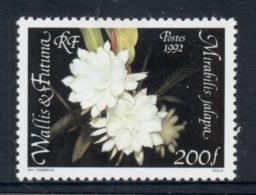 Wallis & Futuna 1992 Flowers MLH - Unused Stamps