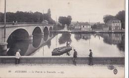 Carte 1920 AUXERRE / LE PONT DE LA TOURNELLE (pêche) - Auxerre