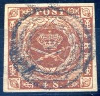 Danemark - N°8 Oblitéré - TB - (M107D) - 1851-63 (Frederik VII)