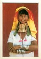 CP Explicative-Burma-Femmes Girafes                    L2684 - Postales