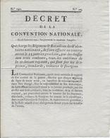 Décret De La Convention Nationale Du 28/11/1792 Pour Les Régiments Et Bataillons De Volontaires Nationaux - Décrets & Lois