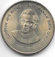 India 5 Rupee 2010 B   Km 377 - Inde