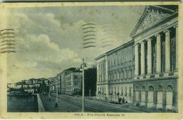 CROATIA -  POLA / PULA -  RIVA VITTORIO EMANULE III - EDIT G. RUDE  - 1920s ( BG515) - Croatia