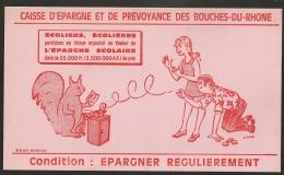 PROTEGE CAHIER SUR 4 PAGES ET SON BUVARD / CAISSE EPARGNE DES BOUCHES DU RHONE - Banque & Assurance