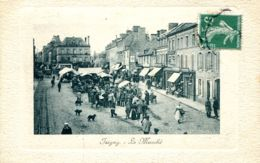 N°2017 A -cpa Isigny -le Marché- - Händler