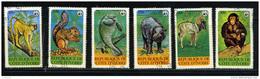 COTE D'IVOIRE 1979, WWF, ANIMAUX EN PERIL, 6 Valeurs, Oblitérés / Used. R490 - W.W.F.