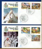 VATICANO - FDC 1988 - FILAGRANO - VIAGGI DEL PAPA - FDC